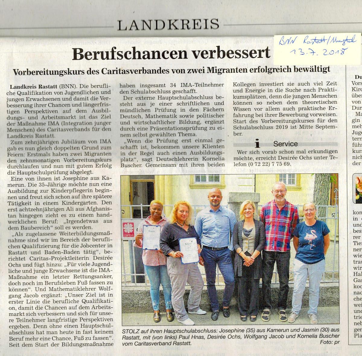 BNN Rastatt/Murgtal 13.07.2018 Berufschancen verbessert