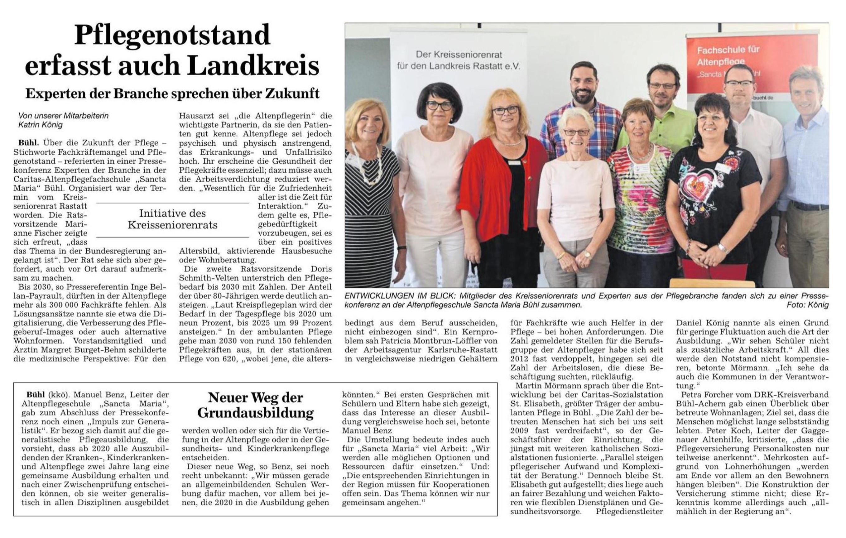 Badische Neueste Nachrichten | Acher- und Bühler Bote | BÜHL | 24.07.2018